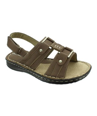 Taupe Square Buckle Bianca Sandal