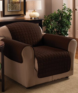 Chocolate Microfiber Chair Protector