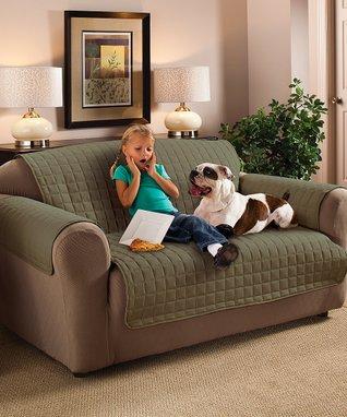 Sage Microfiber Sofa Protector