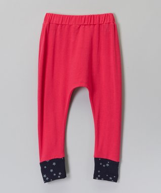 Hot Pink & Navy Star Harem Pants - Infant, Toddler & Girls