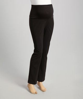 Oh! Mamma Black Over-Belly Maternity Pants - Women