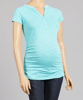 Oh! Mamma Blue Convertible Maternity Capri Pants - Women
