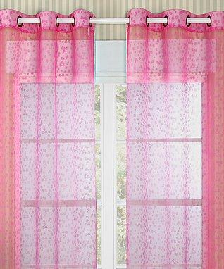 Fuchsia Twinkle Curtain Panel - Set of Two