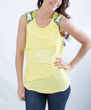 Montanaco Yellow Morgan Tank - Women