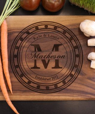 Walnut Emblem Personalized Cutting Board