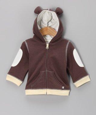 babysoy Brown Bear Hoodie - Infant