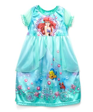 Aqua Little Mermaid Fantasy Nightgown - Toddler & Girls