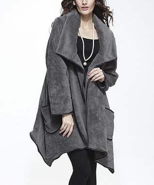 Simply Couture Blue Collared Open Cardigan - Women