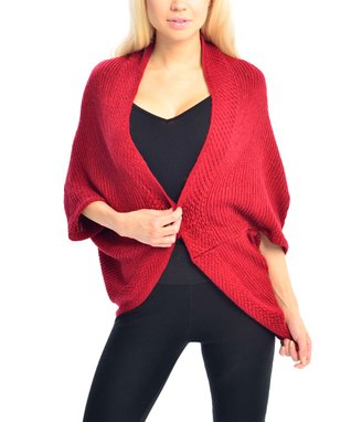 SUE & KRIS Black Marled Open Shawl Cardigan - Women