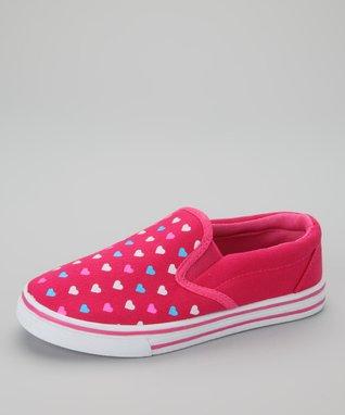 SYKE Peach Hearts Slip-On Sneaker