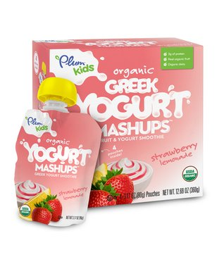 Strawberry Lemonade Organic Greek Yogurt Mashups - Set of 24