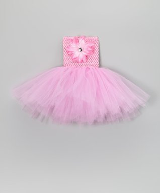 Light Pink Flower Tutu Dress & Clip - Infant, Toddler & Girls