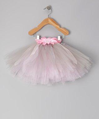 Pink & Silver Ribbon Posh Tutu - Infant, Toddler & Girls