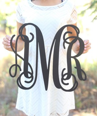 Fancy Monogram Wall Sign