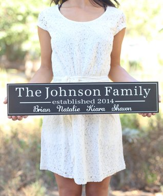 Long Personalized Family Wall Sign