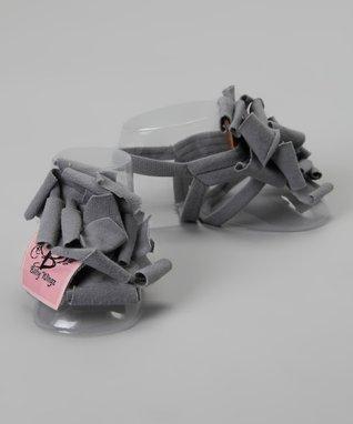 Gray Rose Barefoot Sandal