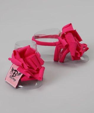 Pink Rose Barefoot Sandal