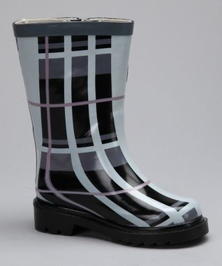 Angels New York Black Argyle Rain Boot