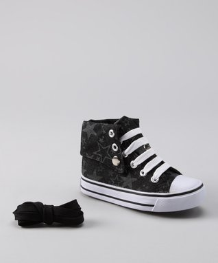 Chatties Pink & White Zebra Hi-Top Sneaker