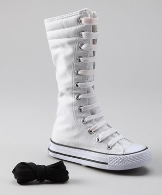 Collection'O White Knee-High Sneaker
