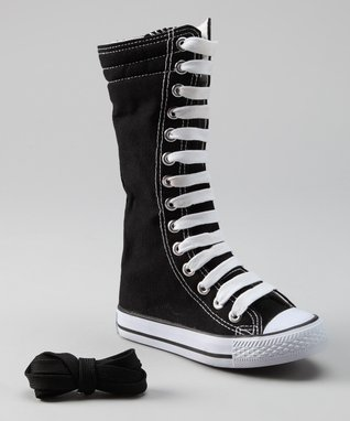 Collection'O Black & White Knee-High Sneaker