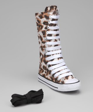 Collection'O Gray Leopard Hi-Top Sneaker