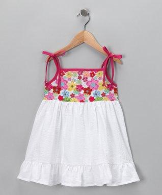 Hot Pink Flower Dress - Infant, Toddler & Girls