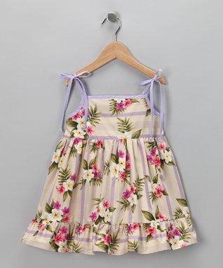 Green Cherry Dress - Infant, Toddler & Girls