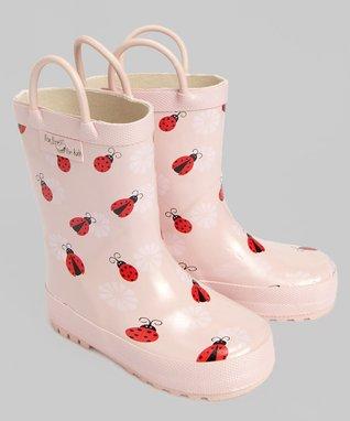 Foxfire Light Pink Ladybug Rain Boot