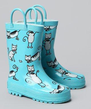 Foxfire Angel Blue Kitten Rain Boot