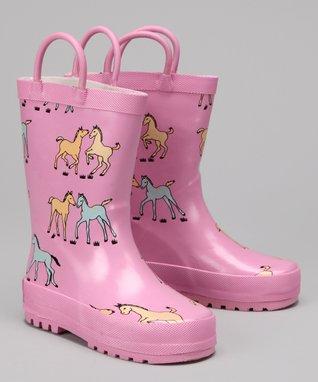 Foxfire Pink Pony Rain Boot
