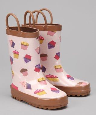 Foxfire Pink Cupcake Rain Boot