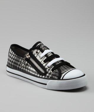 Gotta Flurt Black & White Plaid Lenwood Sneaker