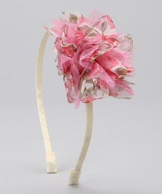 Hot Pink & White Polka Dot Flower Barefoot Sandal