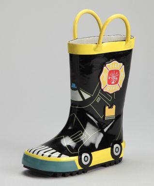 Angels New York Navy Plaid Rain Boot