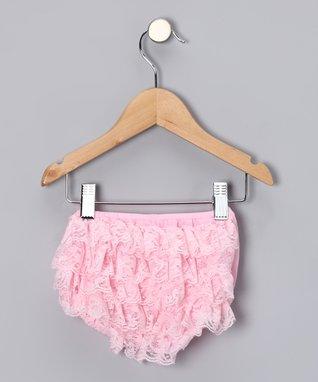 Cream Lace Ruffle Diaper Cover - Infant