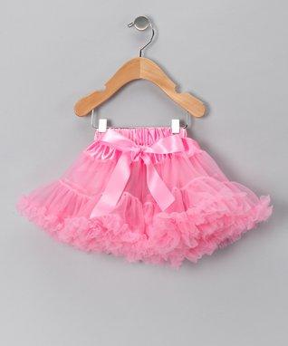 Light Pink Bow Pettiskirt - Infant, Toddler & Girls