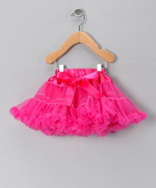 Hot Pink Bow Pettiskirt - Infant, Toddler & Girls