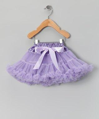Lavender & Black Bow Pettiskirt - Infant, Toddler & Girls