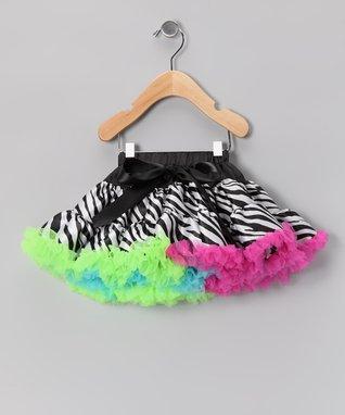 Neon Zebra Bow Pettiskirt - Infant, Toddler & Girls