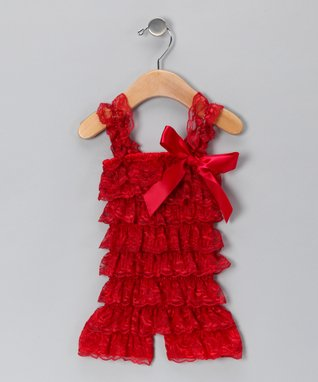 Ivory Lace Ruffle Romper - Toddler & Girls