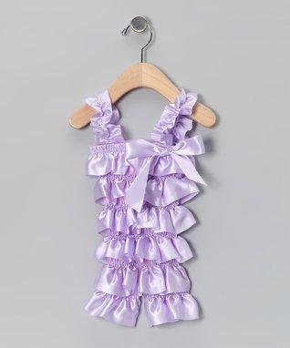 Dusk Pink Lace Ruffle Romper - Infant & Toddler