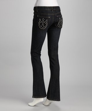 Katydid Collection Blue Embellished Pocket Bootcut Jeans - Women
