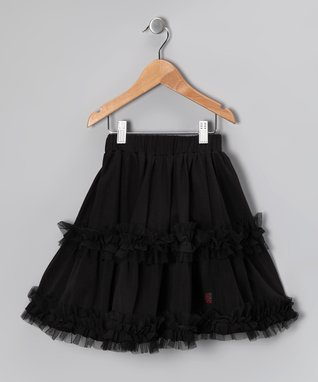 Raspberry Stripe Ruffle Daniella Skirt - Toddler