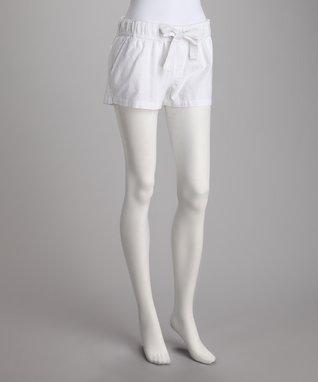 White Desert Oasis Shorts