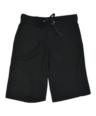 Black Drawstring Bermuda Shorts