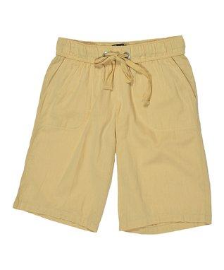 Natural Drawstring Bermuda Shorts