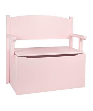 Soft Pink Toy Box Bench