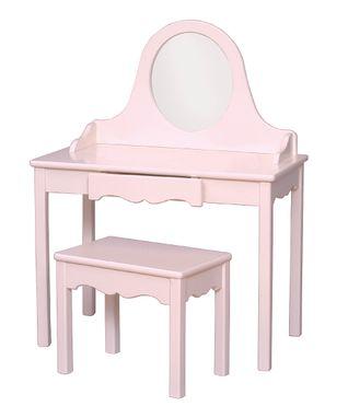 Soft Pink Vanity & Bench
