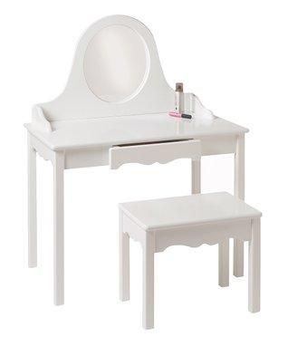 White Vanity & Bench